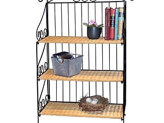 4D Concepts 3 Tier Wicker & Metal Bookcase - 143014