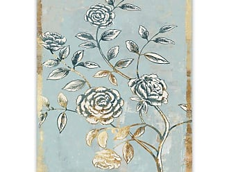 Gallery Direct Pale Damask II Hand Embellished Canvas Wall Art - 92792EC000