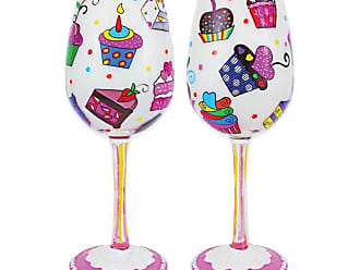 Gift Essentials 15 oz. Lets Eat Cake Wine Glass - WGLETSEATCAKE
