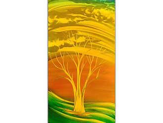 Omax Decor OMAX Fiery Golden Green Handmade Modern Metal Wall Art - MC7008