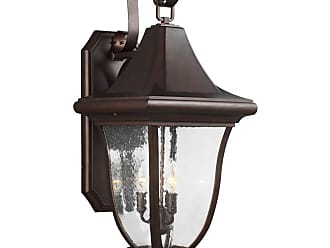 Feiss Oakmont 33.75 3-Light Outdoor Wall Lantern in Patina Bronze