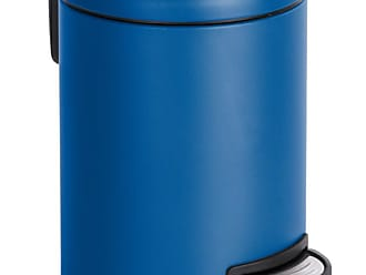 blau SUNWARE Delta Mülleimer mit Klappdeckel 32 x 28 x 48,5 cm 25 L