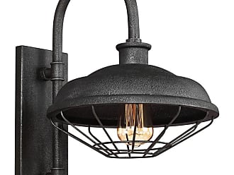 Feiss Lennex 17.25 Outdoor Wall Lantern in Slate Grey Metal