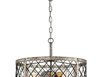 Quoizel Booth 17.5 3-Light Semi-Flush Mount in Rustic Gold