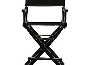 Yu Shan Casual Home 24 Directors Chair Black Frame-with Black Canvas, Counter Height