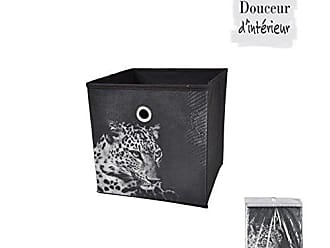 Design Geometrik Douceur DINTERIEUR 6GMB399 Panier de Rangement Intiss/é 12 x 12 x 12 cm Non Tisse