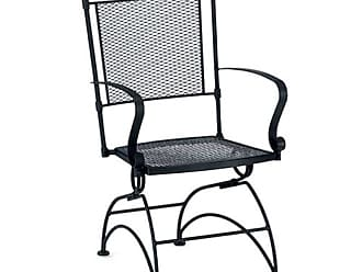 Woodard Outdoor Woodard Bradford Wrought Iron Coil Spring Patio Dining Chair - 7X0066