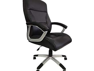 Pelegrin Cadeira Presidente Platinum Couro PU Preta PEL-8028H/3 - Pelegrin