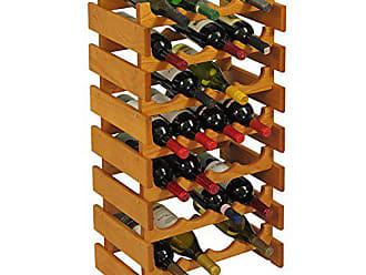 Wooden Mallet 28 Bottle Dakota Wine Rack, Medium Oak