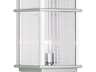 Feiss OL3408BRAL Mission Lodge Pier/Post Lantern in Brushed Aluminum finish with Clear checked glass