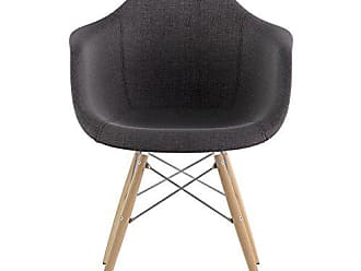 NyeKoncept 332008EW1 Mid Century Dowel Arm Chair, Charcoal Gray