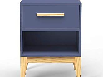 Veromobili Criado-Mudo Pine com Gaveta Azul Petróleo - Veromobili