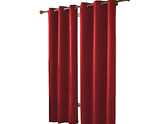 VCNY Home VCNY Mckenzie Twill Blackout Grommet Panel, Red