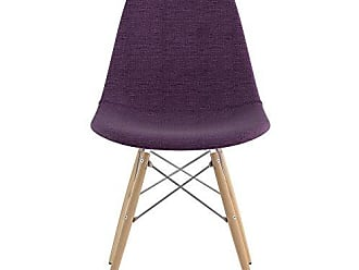 NyeKoncept 331005EW1 Mid Century Dowel Side Chair, Plum Purple