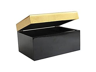 The Jay Companies American Atelier Two Tone Jewelry Box-Black/Gold