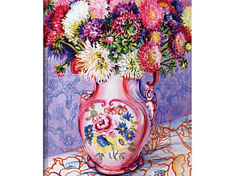 Brushstone Asters In A Pink Floral Victorian Jug Canvas Wall Art - 1JTH001A0810F