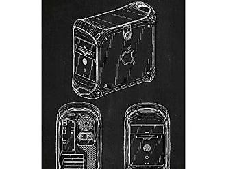 Inked and Screened SP_TECH_418,490_CH_17_W Apple Power Mac G4 Print, 11 x 17, Chalkboard-White Ink