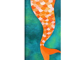 Marmont Hill Mermaid Tail Print on Wrapped Canvas - MH-NJOY-49-C-24