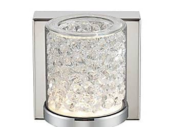 Lite Source Inc. LS-16581 Wall Sconce Decor Lamp, Chrome/Clear