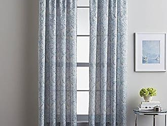 CHF Industries Winston Paisley Rod Pocket Curtain Panel, 84 Inch, Aqua