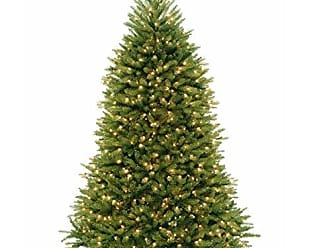 National Tree Company National Tree 7.5 Foot Dunhill Fir Hinged Tree with 750 Clear Lights & PowerConnect System (DUH3-300P-75)