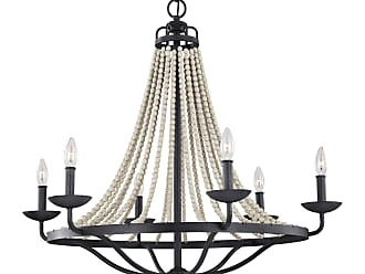 Feiss Nori - 6 - Light Chandelier in Dark Weathered Zinc / Driftwood Grey