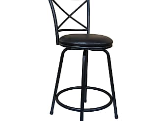 Round Hill Furniture Ciniya Adjustable Height Metal Bar Stool - PC037BK