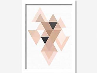 Los Quadros Quadro Decorativo Triângulos Los Quadros Branco