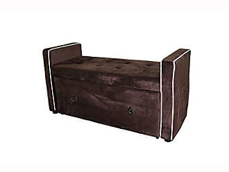 Ore International HB4664 Suede Shoe Storage Bench, 22, Brown
