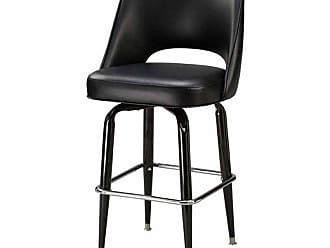 Regal Bucket Seat with Cut Out Back 30 in. Square Frame Black Metal Bar Stool Golden Brown - 85-P2-30-ELDIEGO-GOLDENBROWN