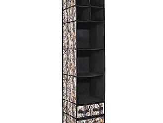 InterDesign Camouflage Fabric Storage 10-Compartment Forest/Black Woodland Hanging Closet Organizer