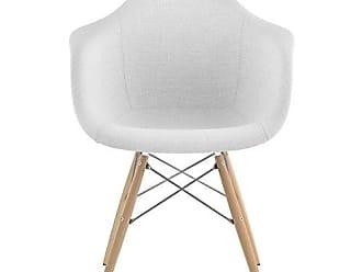 NyeKoncept 332007EW1 Mid Century Dowel Arm Chair, Glacier White