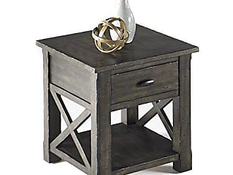 Progressive Furniture T550-04 Crossroads Rectangular End Table, Smokey Gray