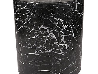 Kelly Wearstler Monolith Side Table In Negro Marquina Marble