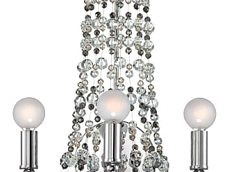 Crystorama 1542-CH-MWP Polished chrome wall sconce dressed with decorative beading