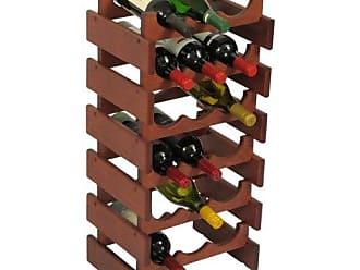 Wooden Mallet 18 Bottle Dakota Wine Rack, Mahogany
