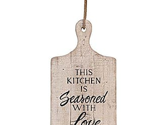 Foreside Home And Garden Foreside Home & Garden This This Kitchen Wall Art, 16 1/2 x 9 x 5/8, White