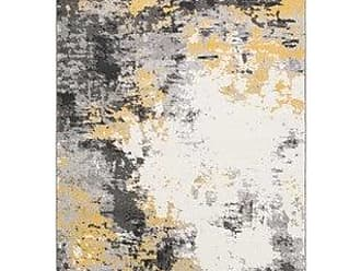 Overstock Avery Abstract Watercolor Area Rug (53 x 76 - Grey)