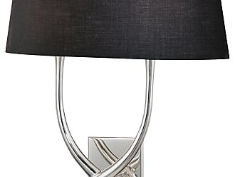 George Kovacs P294-00-634 Wall Sconce in Silver Plated finish with Black w/White Interior