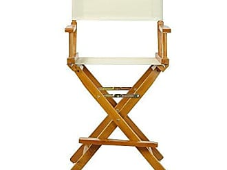 Yu Shan Casual Home 24 Directors Chair Honey Oak Frame-with Wheat Canvas, Counter Height