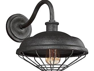 Feiss Lennex - 1 - Light Indoor / Outdoor Wall Lantern in Slated Grey Metal