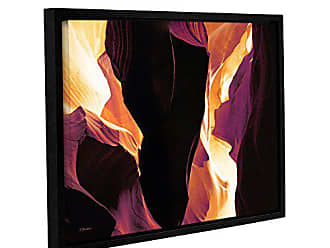 ArtWall Linda Parkers Slot Canyon Light from Above 1 Gallery Wrapped Floater Framed Canvas Artwork, 18 x 24