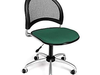 OFM Moon Series Armless Fabric Swivel Chair, Shamrock Green