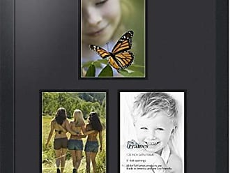 Art to Frames Double-Multimat-1667-89/89-FRBW26079 Collage Photo Frame Double Mat with 3-6x8 Openings and Satin Black Frame