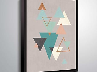 Brushstone Abstract Geo II Gray by Veronique Charron Framed Canvas - 2CHA109A0810F