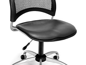OFM 336-VAM-604 Moon Swivel Chair with Vinyl Seat, Charcoal