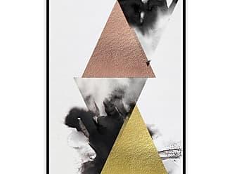 Gallery Direct Pyramid Framed Hand Embellished Canvas Wall Art - 101220FU000