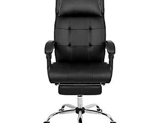 Pelegrin Cadeira Presidente Reclinável em Couro Pu Pelegrin Pel-3022