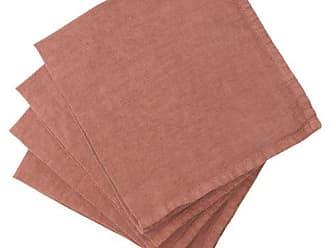 ONCE MILANO Linen Napkin Set - Dark Pink