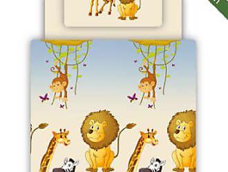 Bettlaken Motiv Safari Ticaa Bettw/äsche Set inkl